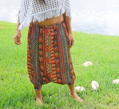 Tribal Hippie Harem Pants by LycheeGrove on Etsy, $38.00