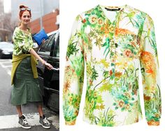 Taylor Tomasi Hill's GREEN PAINT FLORAL BLOUSE Only $29.00. loose fit, V neck, flower/bird paint print, soft and light fabrics, hidden button, rough/fringe edge . Polyester, cotton. Click link for full detail: http://getthelooks.com.au/green-paint-floral-blouse Also available on ebay: http://cgi.ebay.com.au/ws/eBayISAPI.dll?ViewItem&item=171158381217&ssPageName=STRK%3AMESE%3AIT