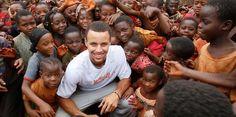 Stephen Curry visits Tanzania