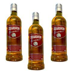 Vodka Squadron Caramel 70 Cl 20º - LOT DE 3