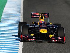 First look at the RB8 out on track in Jerez #redbull #f1