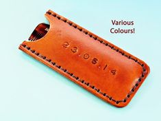 Click To Shop Now - Handmade Personalised Date Leather Comb Case, Hand -Stamped Leather Comb Cover. #personalised #leather #combcase #combcover #handstamped Leather Bookmark, Leather Keyring, Leather Gifts, Leather Wallet, Leather Anniversary Gift, 3rd Anniversary Gifts, Personalised Keyrings, Personalized Gifts, Gifts For Husband