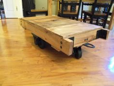 Industrial style coffee table built from by jrobbinsbarnworks, $450.00