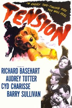 Tension (1949) | http://www.getgrandmovies.top/movies/10908-tension | A drugstore manager, Warren Quimby (Basehart), is married to sexy, man-hungry Claire (Totter). She leaves him for another man, Barney (Gough). Quimby decides to murder the man. He devises a complex plan, which involves assuming a new identity, to make it look like someone else murdered Claire's new boyfriend.