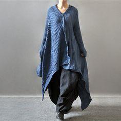 Casual loose long sleeve woolen sweater