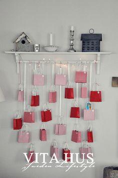This would be so cute for an advent calendar idea. * VitaHus *: Adventskalender nach Weihnachten