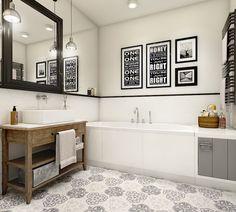 Dom w Warszawie Bathroom Interior, House Design, Bathroom Renos, My Home Design, Small Bathroom, Bathroom, Bathroom Decor, Heritage Bathroom, Colorful Interiors