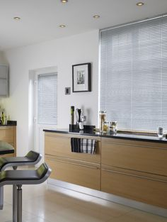 Use silver to maximise the light in a room, without overpowering a decor. Made to measure venetain blinds are perfect for this.