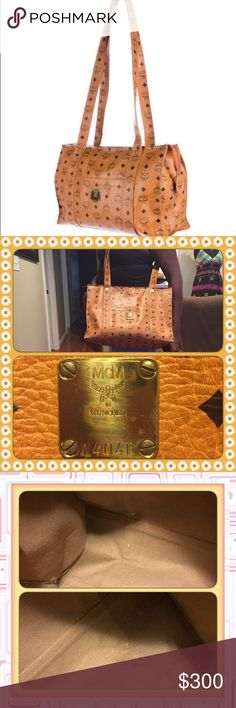 👜MCM Bag👜 Authentic  MCM bag-minor distress throughout inside and outside of bag including on the hardware. No Receipt-NO Dust 💼 but this bag is Real. I can put it on $500 authentication!!!!! Otherwise Price Listed is firm unless you bundle it for the discount‼️‼️‼️ MCM Bags Shoulder Bags