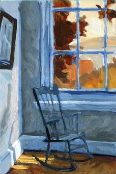 After a show of my paintings at the Edward Hopper House Art Center in Nyack, NY held earlier in 2012, I was invited to return two separate times to spend several days each painting in this home where Edward Hopper lived as a boy.