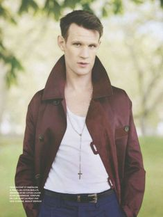 """A new photoshoot of Matt Smith by Jesse John Jenkins features in the new edition of """" L'Officiel Hommes Paris"""" . Matt wears a variety of ou. Doctor Who Actors, Matt Smith Doctor Who, Free Short Stories, Burberry, Leather Men, Leather Jacket, Rain Suit, Rory Williams, Amy Pond"""