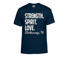 Strength Spirit Love for Chattanooga Short Sleeve Tee by Brand My Swag on Etsy; $12.00 #noogastrong #strengthspiritlove #chattanooga #USMC #semperfi