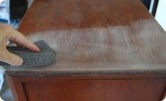 Tutorial and tips for staining wood furniture. great stuff from censational girl