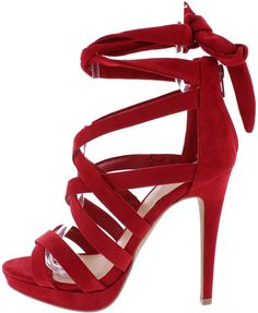 Breathe some life into your inner fashionista with these amazing lace-up heels. Features - Open toe and stiletto heel silhouette. - Multiple crisscrossing straps over the vamp. - Lace up ankle closure
