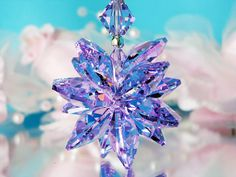 Crystal Suncatcher Car Charm created with Swarovski Violet and Aurora Borealis Crystals.