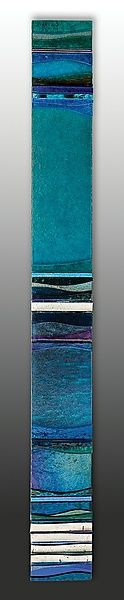 Mosaic Acqua Marina I by Alicia Kelemen: Art Glass Wall Sculpture available at www.artfulhome.com