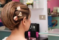 Acconciatura da sposa con taglio corto. www.lemienozze.it