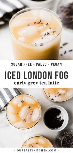 dairy drinks, dairy drinks recipes You'll love this simple, homemade iced london fog made with earl grey tea, lavender leaves, liquid ste. Milk Tea Recipes, Iced Tea Recipes, Coffee Recipes, Vegan Tea Recipes, Potato Recipes, Vegetable Recipes, Vegetarian Recipes, Protein Shakes, London Fog Recipe