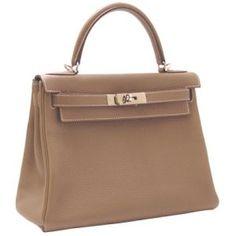 Hermes Kelly 29cm In Sewing Etoupu Clemence leather Silver Hardware The Hermes Birkin bag vs Hermes Kelly bag