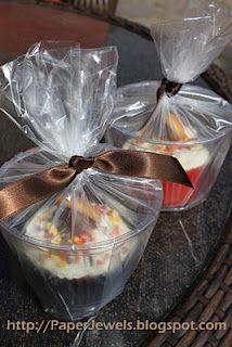 Cute Fall Cupcake and Easy Bake Sale Packaging