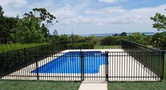 Image detail for -Aluminium Pool Fencing around a swimming pool designed and built by ...