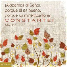 Alabemos al Señor porque El es bueno y su misericordia es constante