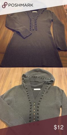 Hooded long sweater Hooded long tunic sweater Tops Tunics