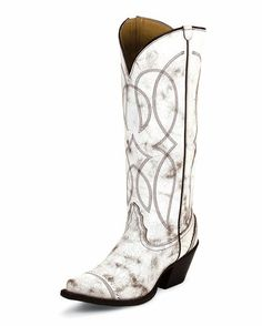 Women's Antique White Geneva Boot--- boots to get married in