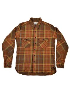 Left Field NYC - Brown Tartan Twill Work Shirt (Made in the USA)