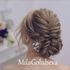 Glam Updo Styles For Wedding! Glam Updo Styles For Wedding! Do you wanna see more fab hairstyle ideas and tips for your wedding? Short Hair Updo, Braided Hairstyles Updo, Up Hairstyles, Pretty Hairstyles, Wedding Hairstyles, Hairstyle Ideas, Braided Updo, Medium Hair Styles, Curly Hair Styles