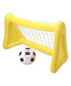 Look at this Inflatable Soccer Goal Set on #zulily today!