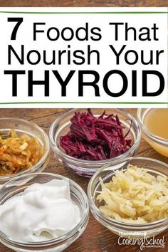 Gaining weight? Losing weight? Feeling depressed or sluggish? Is your hair falling out? Have you experienced strange or irregular heartbeats? Can't sleep? It might be a sign of an under-active thyroid. Find out which 7 foods are best to improve the health of your thyroid and get some delicious recipes to keep you on track. #Thyroid #Diet #Hypothyroidism #Hyperthyroidism #tradcookschool