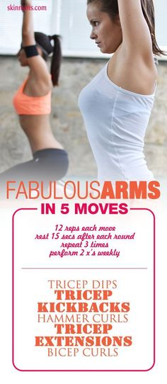 Fabulous Arms in 5 Moves! #SkinnyMs #ArmWorkouts