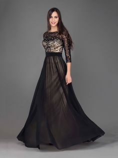Evening dress with handmade beading and sleeves!! http://mikael.gr/en/spring-summer-2014/11821.html