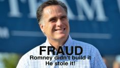 Romney is a fraud