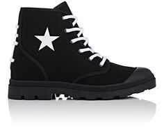 GIVENCHY Cotton Drill Lace-Up Boots. #givenchy #shoes #