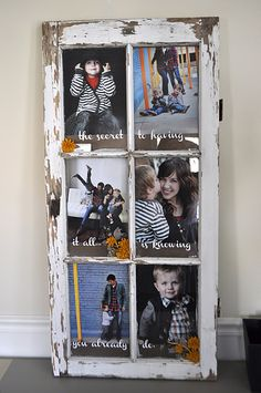 Old Window Turned Picture Frame