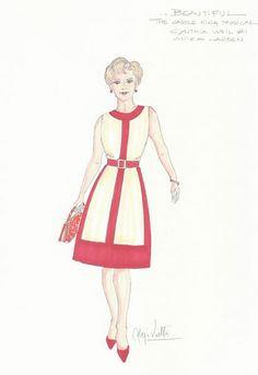 Alejo Vietti's designs for Cynthia Weil in Beautiful – The Carole King Musical.