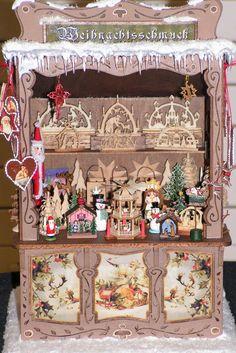 dollhouse christmas market stall - Google Search