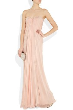alexander mcqueen silk-chiffon bustier gown in blush Bridesmaid Dresses, Prom Dresses, Formal Dresses, Wedding Dresses, Formal Wear, Bridesmaids, Evening Dresses, Beautiful Dresses, Nice Dresses
