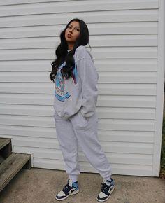 Baddie Outfits Casual, Cute Swag Outfits, Cute Comfy Outfits, Chill Outfits, Trendy Outfits, Tomboy Fashion, Teen Fashion Outfits, Retro Outfits, Streetwear Fashion
