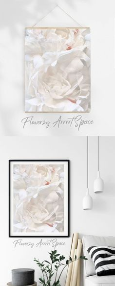 White Peonies, White Flowers, Big Photo, Promote Your Business, Quote Prints, Digital Prints, Original Paintings, Neutral, White Colors