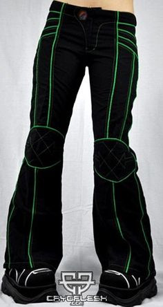 Tron pants... Would be awesome to modify some black yoga pants into something like this...