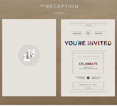 Modern wedding invitation #weddings #weddinginvitations