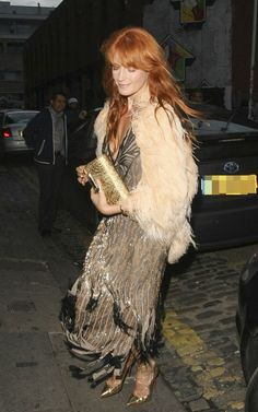 Florence Welch arriving @ Nick Grimshaw's 30th birthday party