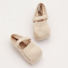 Knitted Booties – Beige