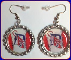 Detroit Tigers MLB  Earrings Unique Custom Sport Team Jewelry nfl mlb nhl ncaa nba Earrings,Charm Bracelet,Keychain,Money Clip,Purse Charm by SportsnBabyCouture on Etsy