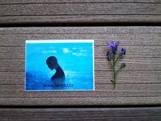 Samolepka / Sticker * #woman #blue #water #moon #sticker #samolepka #littleart #malestesti #cute #love #flower #art #ladylu #polepsvet #darek #obdaruj #papirnictvi #scrapbook #tvoreni #ladyluart #laska #meditace
