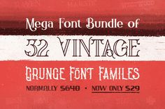 This Mighty Deal from Cruzine Design features 32 Premium Grunge Font Families at 1 hugely discounted price. That's 200+ individual typefaces in retro, vintage and grunge styles. With an extended license, the sky's the limit in terms of how many projects you're going to use these on. Get all 205 fonts for only $29!