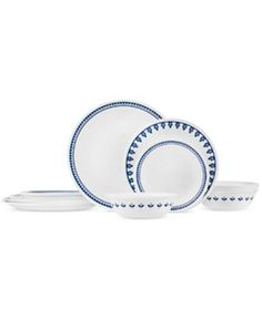 Corelle Boutique Uptowne Blue Porto Calle 16 Pc Set, Service for 4, Only at Macy's